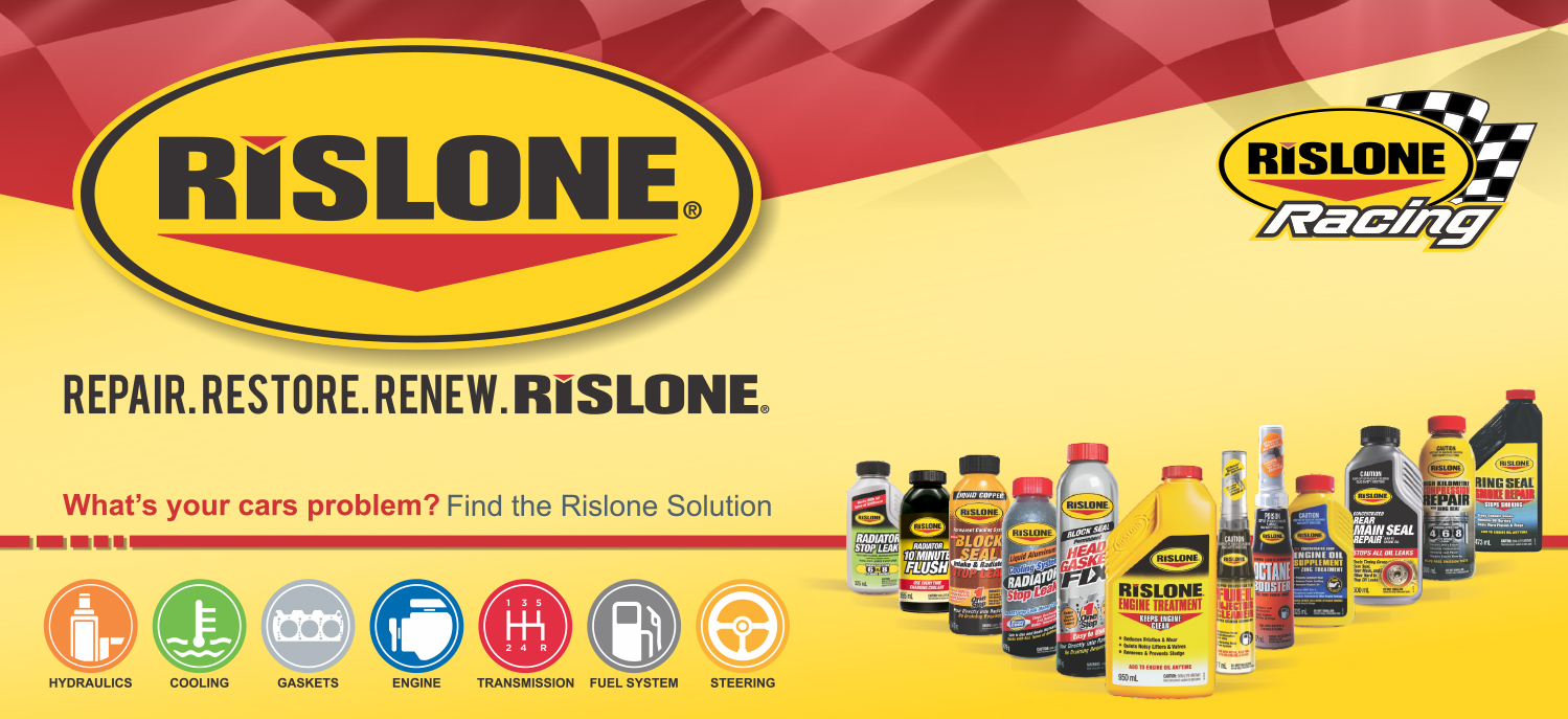 Repair. Restore. Renew. Rislone