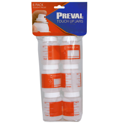 PREVAL TOUCH UP JARS (6 PACK - OF 89ML PLASTIC JARS) image